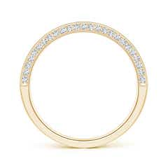 Toggle Trio Set Pave Diamond Semi Eternity Wedding Band