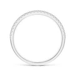 Toggle Half Eternity Double Row Diamond Wedding Band