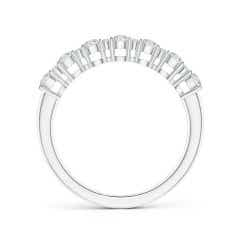 Toggle Round Diamond Half Eternity Band in Prong Setting