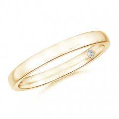 Plain Wedding Band with Secret Diamond