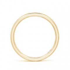 Toggle Plain Wedding Band with Secret Diamond