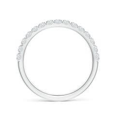 Toggle U-Pave Set Diamond Half Eternity Wedding Band