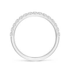 Toggle U-Pave Set Diamond Half Eternity Wedding Band