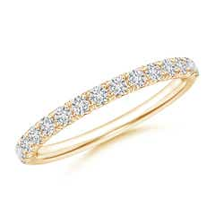 U-Pave Set Diamond Half Eternity Wedding Band