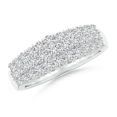 Tapered Triple-Row Diamond Anniversary Band