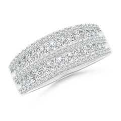 Cascading Diamond Multi-Row Anniversary Band