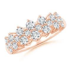Round Cluster Diamond Garland Wedding Band