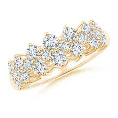 Round Cluster Diamond Garland Wedding Band
