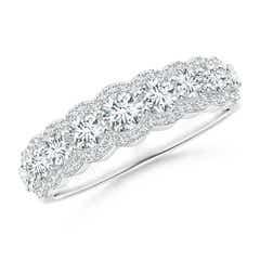 Scalloped-Edge Diamond Nine Stone Anniversary Band