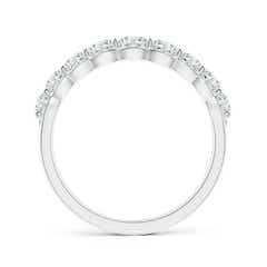 Toggle Scalloped-Edge Diamond Nine Stone Anniversary Band