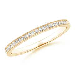 Pave-Set Diamond Half Eternity Wedding Band for Her