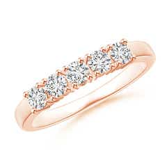 Angara Eleven Stone Shared Prong-Set Diamond Wedding Band