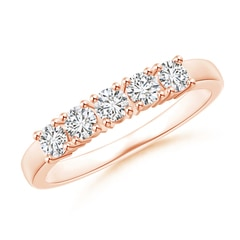 Angara Eleven Stone Shared Prong-Set Diamond Wedding Band EuQysxtNn