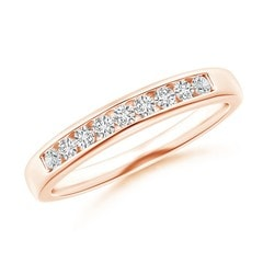 Nine Stone Channel-Set Diamond Wedding Band