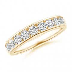 Nine Stone Channel-Set Diamond Wedding Band