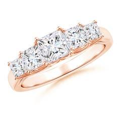 Graduated Princess-Cut Trellis Diamond Five Stone Band
