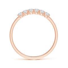 Toggle Fishtail-Set Diamond Six Stone Wedding Band
