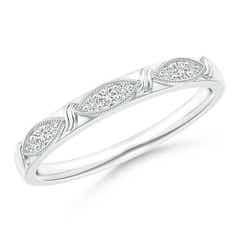 Art Deco Diamond Marquise-Motif Wedding Band