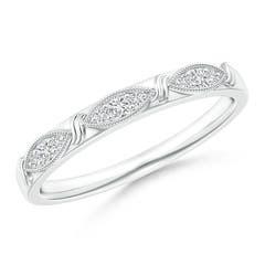 Art Deco Diamond Marquise-Motif Wedding Band