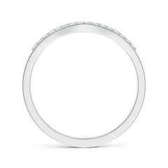 Toggle Double Row Diamond Contour Wedding Band