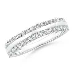Railroad Diamond Half Eternity Anniversary Band