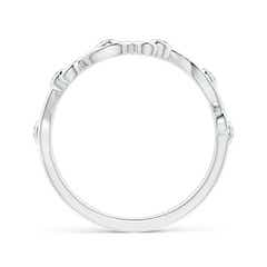 Toggle Bezel Set Diamond Ivy Scroll Half Eternity Band