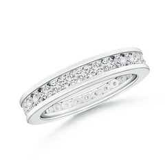 Channel Set Eternity Diamond Wedding Band