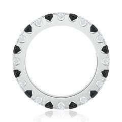 Toggle Shared Prong-Set White and Enhanced Black Diamond Eternity Band