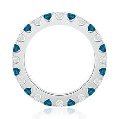 Toggle Shared Prong-Set White and Enhanced Blue Diamond Eternity Band
