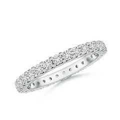 Shared Prong-Set Diamond Eternity Wedding Band for Her