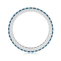 Toggle Prong Set Princess Enhanced Blue Diamond Eternity Wedding Band