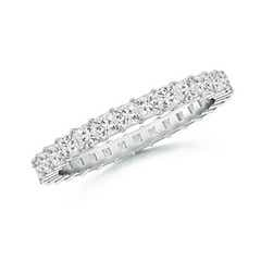 Shared Prong-Set Princess-Cut Diamond Eternity Band