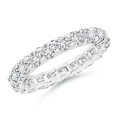 Prong Set Diamond Full Eternity Wedding Band