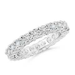 Prong-Set Round Diamond Eternity Wedding Band
