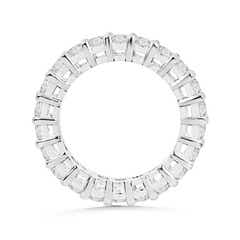 Toggle Prong-Set Round Diamond Eternity Wedding Band