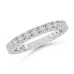 Round Diamond Full Eternity Wedding Band