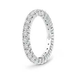 Toggle Round Diamond Full Eternity Wedding Band