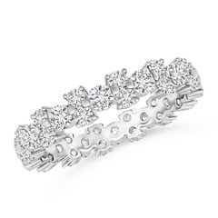 Garland Round Diamond Eternity Wedding Band