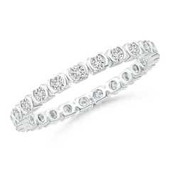 Round XO Diamond Eternity Wedding Band
