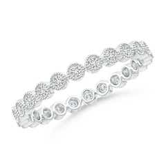 Milgrain Bezel-Set Diamond Eternity Wedding Band