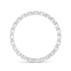 Toggle Milgrain Bezel-Set Diamond Eternity Wedding Band