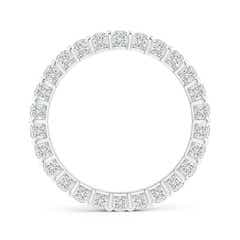 Toggle Bar Ridge Three-Sided Diamond Eternity Wedding Band