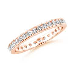 Channel-Set Diamond Eternity Wedding Band
