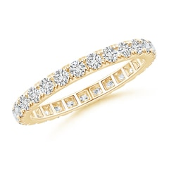 U Pave-Set Diamond Eternity Wedding Band