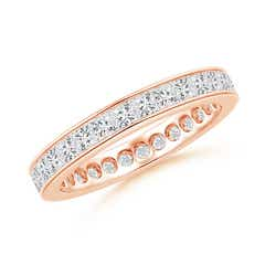Channel Set Princess-Cut Diamond Eternity Band