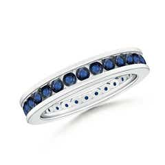 Channel Set Eternity Sapphire Wedding Band