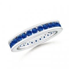 Channel Set Eternity Sapphire Wedding Band