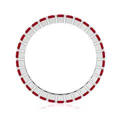 Toggle Shared Prong Set Square Ruby Eternity Band