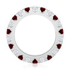 Toggle Shared Prong Ruby and Diamond Eternity Band