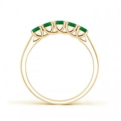 Toggle Half Eternity Five Stone Emerald Wedding Band